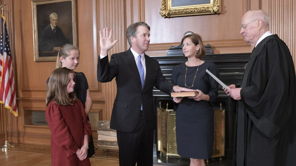 brett kavanaugh swear in kennedy