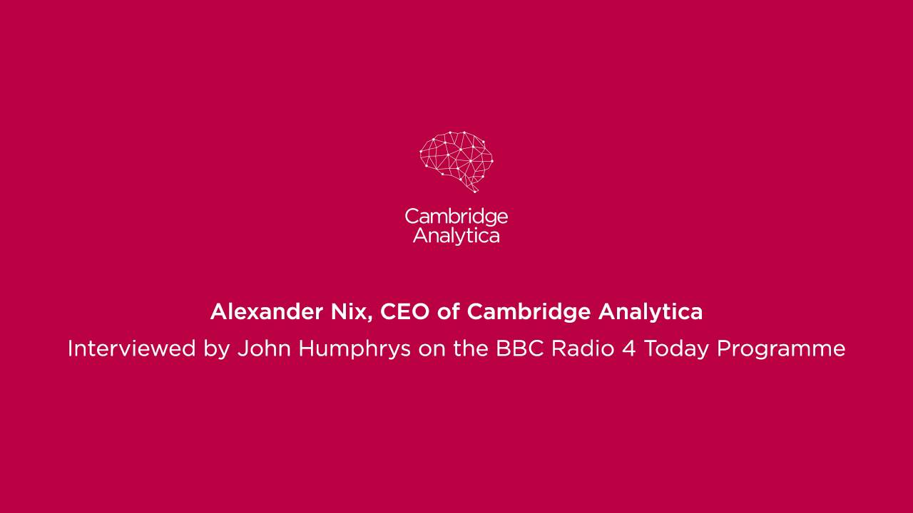 cambridge analytica logo bbc radio4