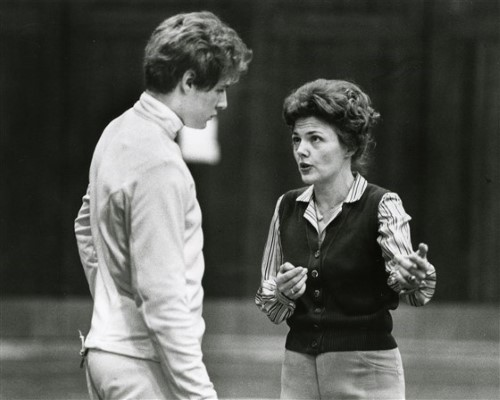 charlotte remenyik with fencing student ohio state archives Custom