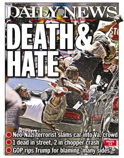 charlottesville ny daily news cover death hate august 13 2017 custom 3
