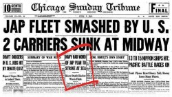 Chicago Tribune WW2 Code headline