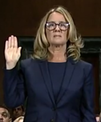 christine blasey ford oath uncredited