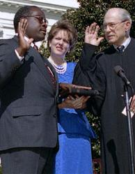 clarence virginia thomas swearing in