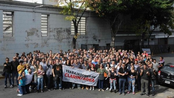clarin journalists protest outside el clarin newspape april 18 2019 twitter aRGra