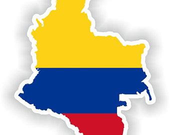 columbia flag map