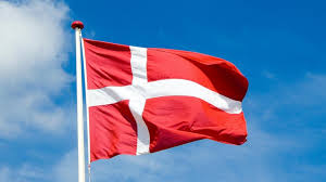 danish flag waving