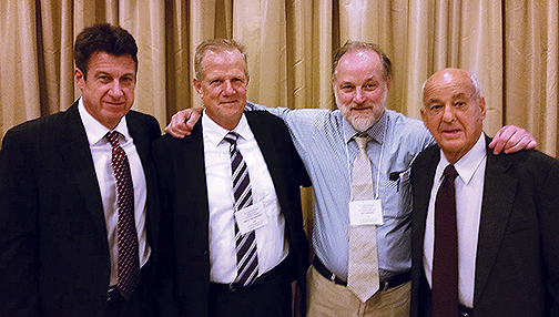 David Denton, Walter Boyes, Ed Tatro and Dr. Cyril Wecht, left to right, in 2017