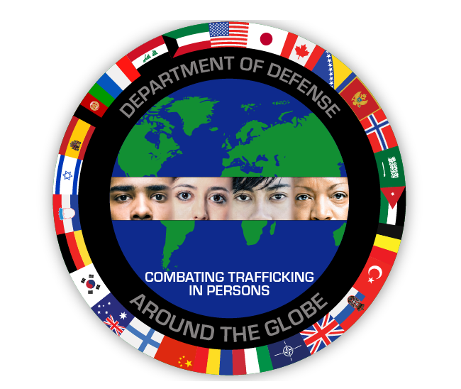 defense department combatting trafficking logo