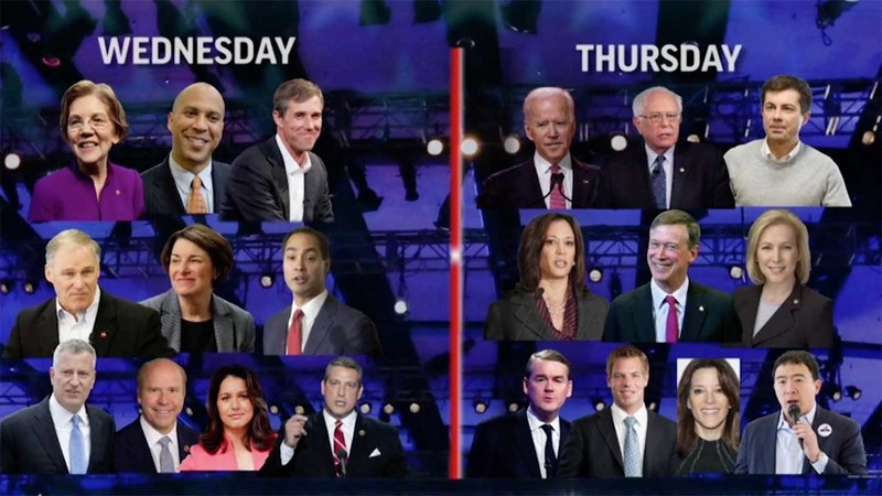democratic 20 debate candidates Small