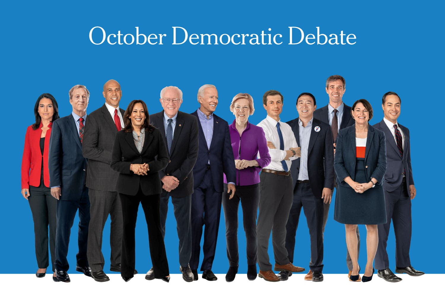 democratic debate promo october 2019 12 candidates