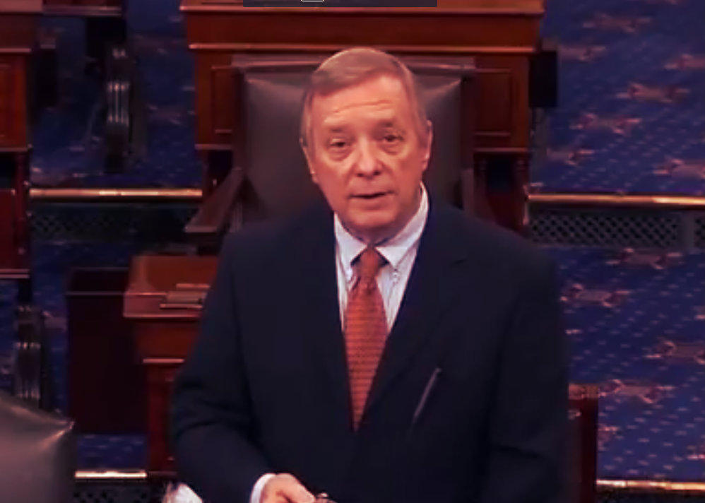 dick durbin speaking screenshot