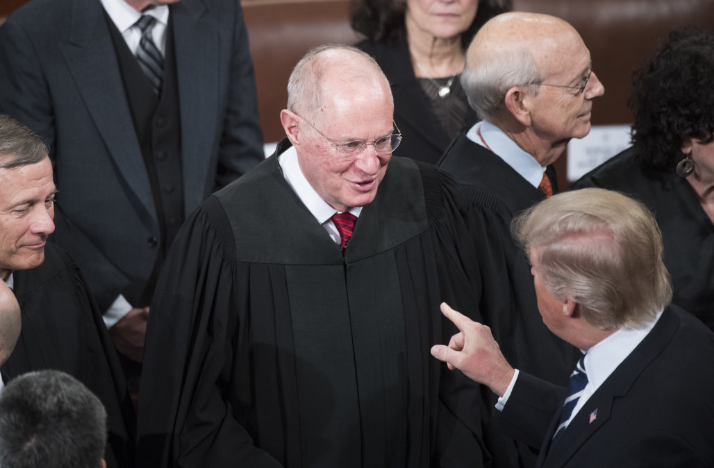 djt greets supreme court justice anthony kennedy picture screenshot