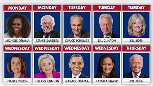 dnc speakers 2020 schedule
