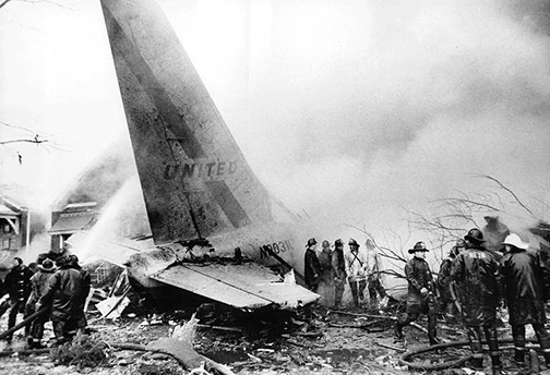 Scene of fatal 1972 airplane crash of United Air Lines flight 533 (Chicago Tribune / David Nystrom)