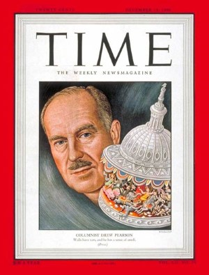 drew pearson time cover 1948 custom