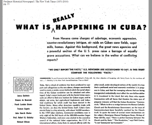 fair play for cuba committee ny times ad april 1960