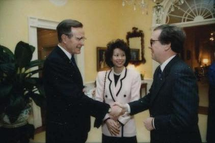 george h w bush mitch mcconnell 1991 elaine chao