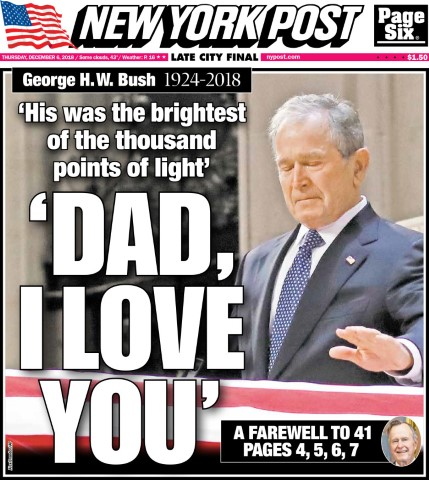 george hw bush death new york post 12 6 18 Small