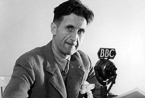 george orwell at bbc mike public domain