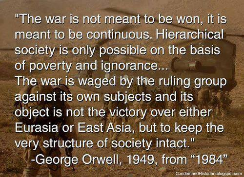 george orwell on continuous war