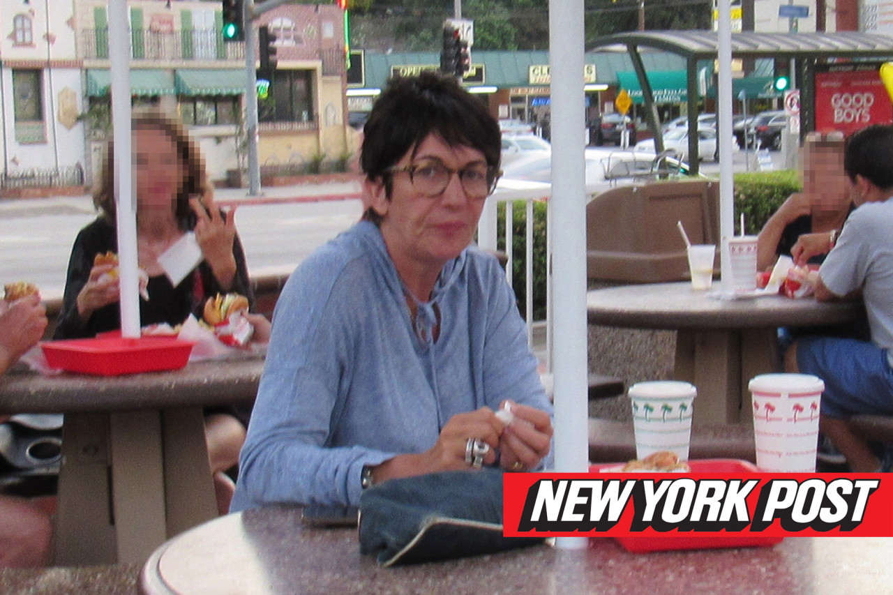 ghislaine maxwell new york post aug 2019 in and out burger la2