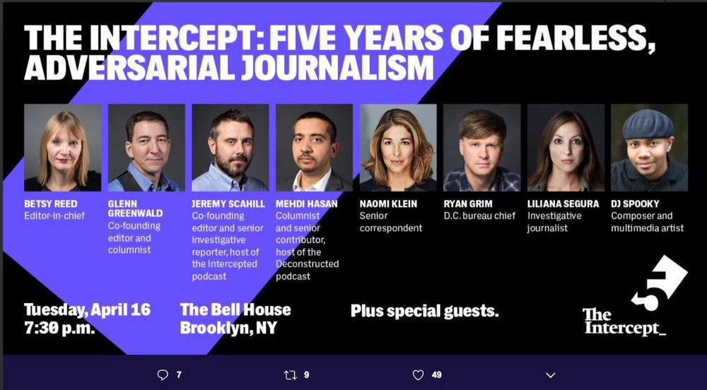 glenn greenwald intercept anniversary poster april 16 2019