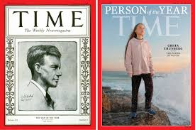 greta thunberg charles lindbergh time covers