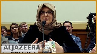 Hatiz Cengiz, Jamal Khashoggi's fiancee, testifies before a U.S. House Committee on May 16, 2019