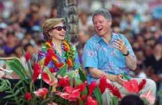hillary clinton bill clinton honolulu