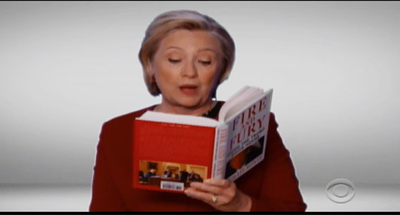 hillary clinton fire and fury screengrab grammys 1 28 18