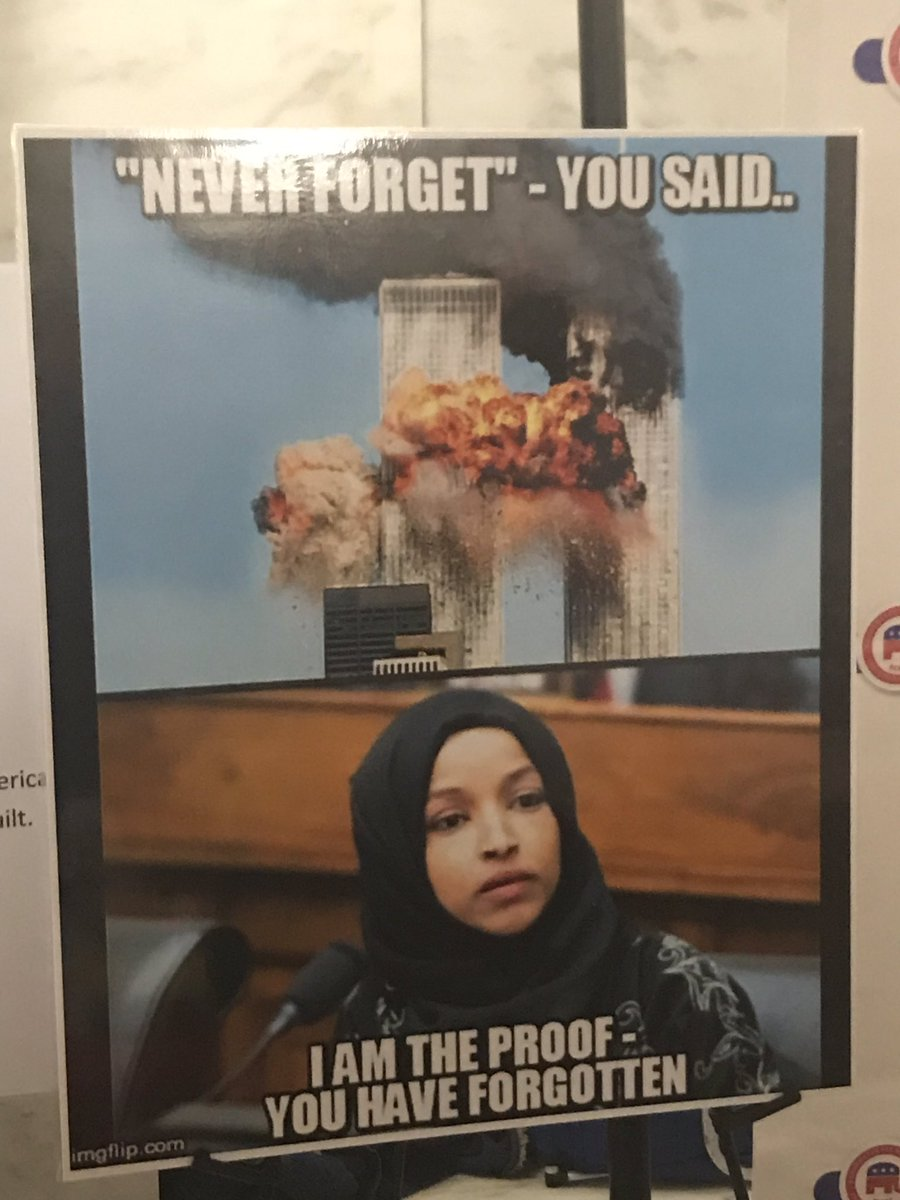 ilhan omar west virginia 9 11 poster march 1 2019