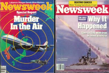 iran air flight 655 newsweek cover