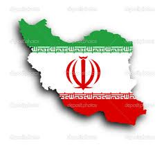 iran flag map