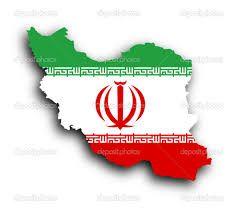 iran flag map