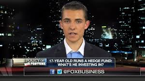 Jacob Wohl, whose supposed investment acumen as a 17-year-old, was featured by Fox Business News (screenshot)