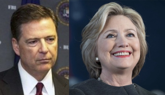 james comey hillary clinton collage