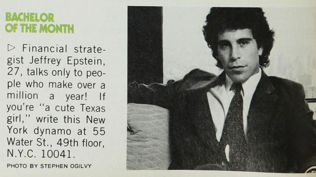 jeffrey epstein cosmo bachelor of month stephen ogilvy photo