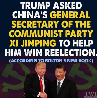 john bolton china allegation graphic Custom