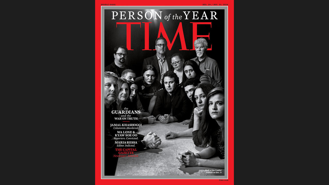 journalists as time magazine person of year