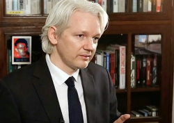 julian assange clean cut library screenshot 2007 Custom 2