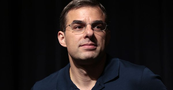 justin amash blue shirt