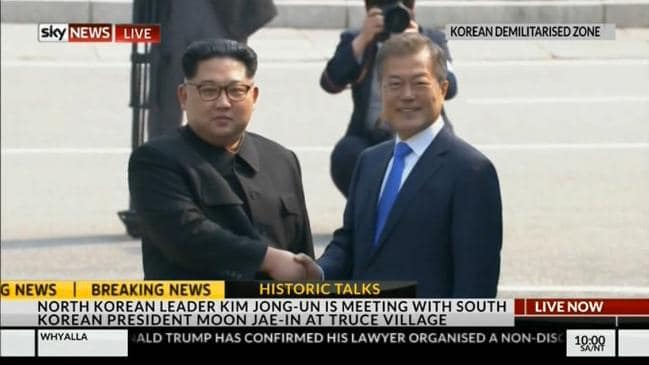 kim jong un moon jae in truce village