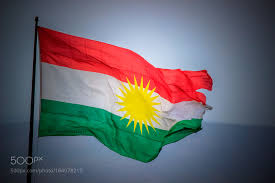 kurd flag waving