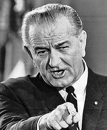lyndon johnson points finger