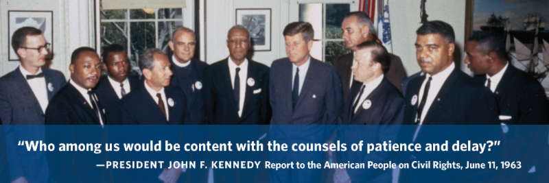 jfk civil rights report to public june 11 1963 jfk library