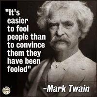 mark twain fool people