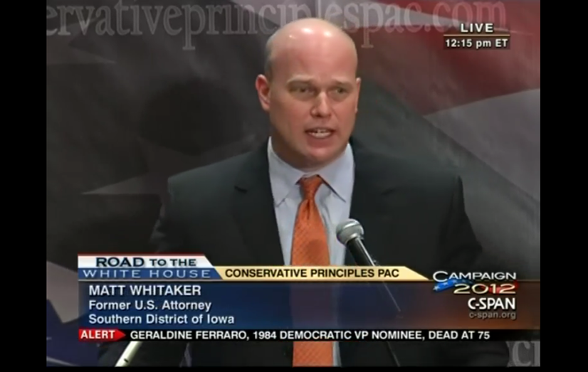 matthew whitaker 2012 campaign statement cspan