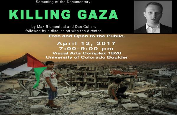 max blumenthal killing gaza boulder poster