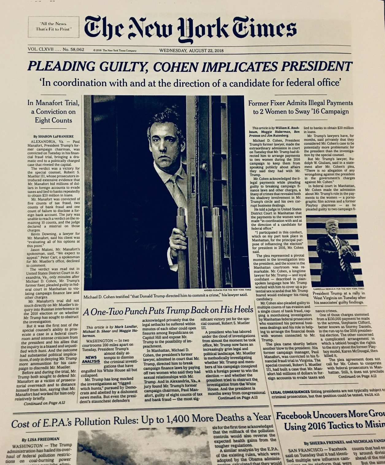 michael cohen nytimes twitter 8 21 2017