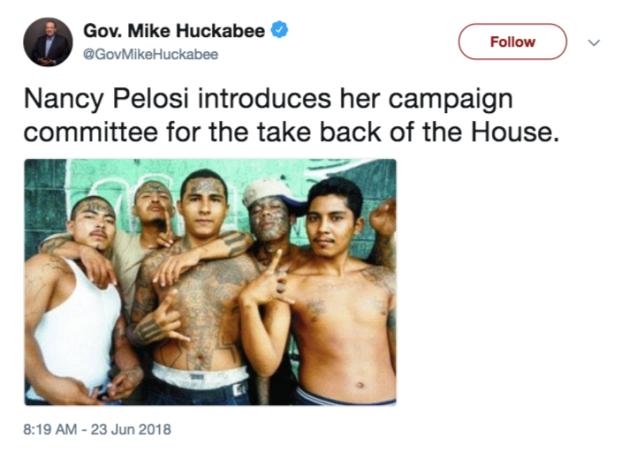 mike huckabee pelosi tweet june 23 2018